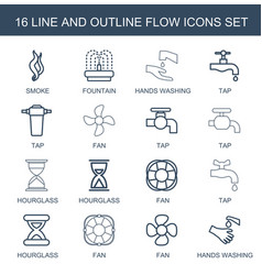 Flow icons vector
