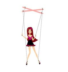 Girl marionette vector