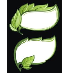 green leaf frames vector image