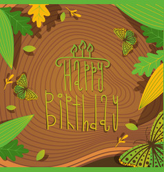 happy birthday creative lettering vector image