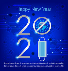 Happy new year 2021 concept banner image vector