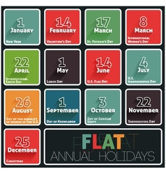 Holidays calendar vector image