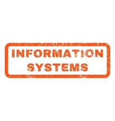 Information Systems Rubber Stamp vector