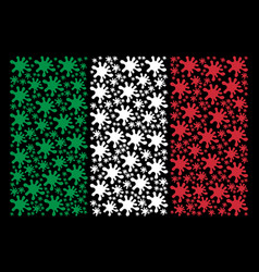italian flag mosaic of blot icons vector image