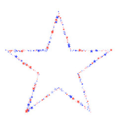 july 4th pattern made stars vector image
