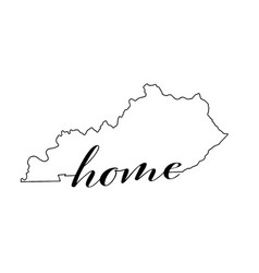 Kentucky state map outline with home vector