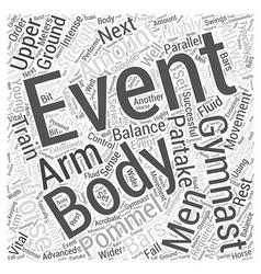 Mens Gymnastics Events Word Cloud Concept vector
