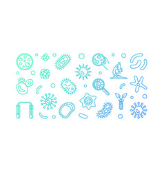 microbiology creative blue horizontal vector image
