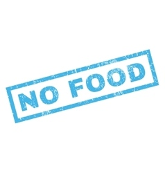 No Food Rubber Stamp vector image