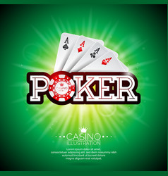 on a casino theme with playing cards and shiny vector image