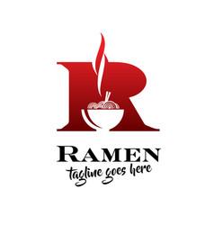R ramen noodle vector