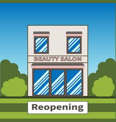 Reopening beauty salon after global viral outbreak vector