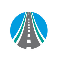 Roadway logo combination highway vector