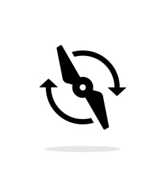 Rotor rotating simple icon on white background vector