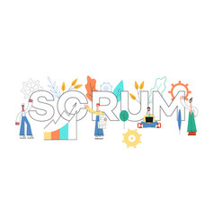 Scrum text design - agile vector