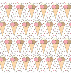Seamless ice cream pattern vector