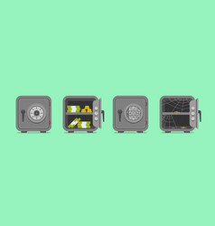 seamless pattern with security metal safes vector image