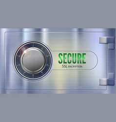 secure ssl connection concept security of vector image