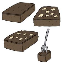 Set brownies vector