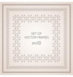 Set intricate frames vector