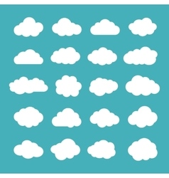 Set of Flat Clouds Icons Cloud Shapes collection vector
