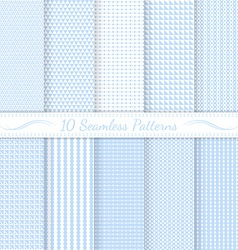 Set of ten subtle seamless patterns vector image
