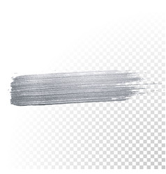 Silver paint brush stroke or abstract dab smear vector