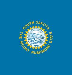 South dakota flag united states america vector