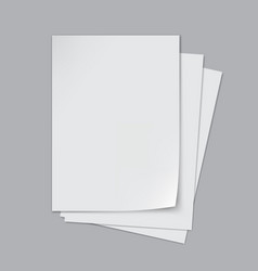 stack a4 paper sheets with shadows vector image