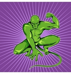 Superhero Green Monster vector