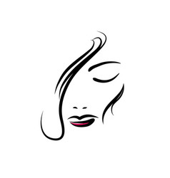 symbols and logo designs idea with women portrait vector image