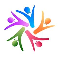 teamwork social logo vector image