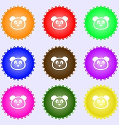 Teddy Bear icon sign Big set of colorful diverse vector image