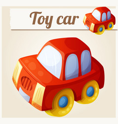 toy red car cartoon vector image