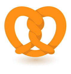 traditional pretzel icon flat style vector image