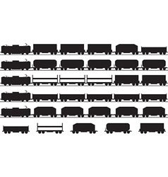 Trains silhouette vector