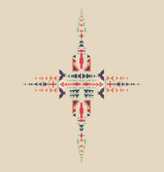 Tribal element in aztec stile design vector
