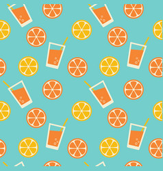 tropical lemonade seamless pattern vector image