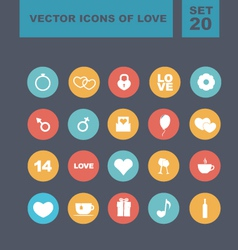 Valentines day heart icons 5 vector image
