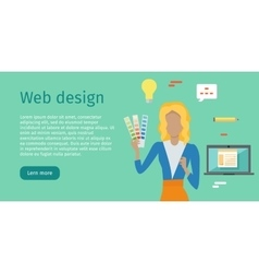 Web Design Web Banner in Flat Style vector image vector image