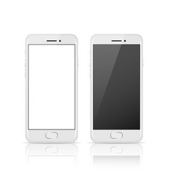 White color mobile phone with blank and dark vector