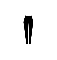 Woman classic trousers icon vector