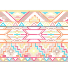 Abstract geometric seamless aztec pattern vector image vector image