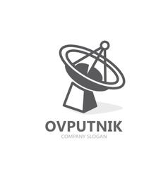 satellite icon or logo GPS satellite vector image