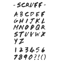 Scruff - Hand Drawn Alphabet vector image vector image