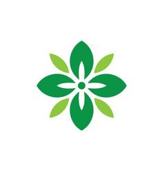 abstract circle leaf eco logo vector image