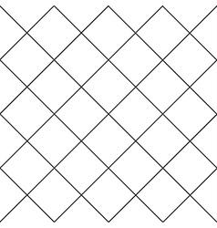 Black Grid White Diamond Background vector image vector image