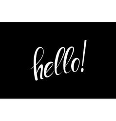 Hello calligraphic lettering vector