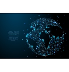 planet Earth low poly blue vector image