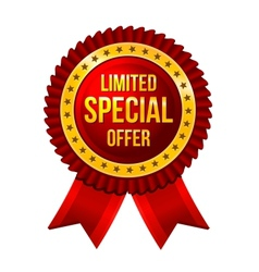 Special Offer label with ribbons vector image